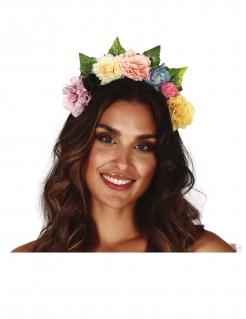 Blumen-Krone für Damen Hippie-Accessoire bunt