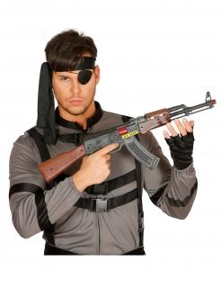 Spielzeug-Sturmgewehr AK-47 Kostümzubehör schwarz-braun 62 cm