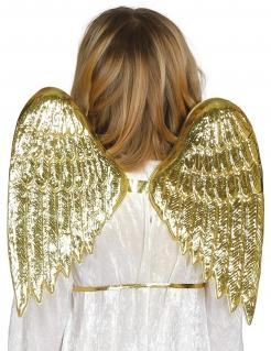Wunderschöne Engelflügel für Kinder goldfarben