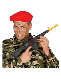 Spielzeugwaffe M16 Faschingsaccessoire schwarz-gelb 52 cm