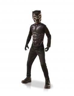Black Panther™-Kostümkoffer für Kinder Faschingskostüm schwarz