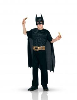 Batman™-Kostüm mit Accessoires für Kinder Faschingskostüm schwarz-gold