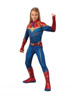 Captain Marvel™-Kostüm für Mädchen rot-blau-gold