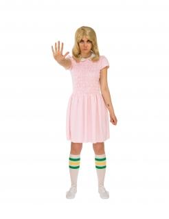 Eleven™-Damenkostüm Stranger Things™ rosafarben