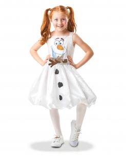 Olaf™-Kostüm für Mädchen Die-Eiskönigin™-Kostüm weiss