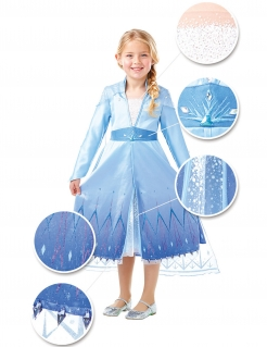 Elsa-Kostüm für Mädchen Premium Frozen 2™ Faschingskostüm blau