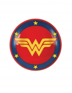 Wonder Woman™-Schild für Kinder Super Hero Girls™ Accessoire blau-rot-gelb
