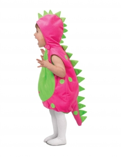 Dinosaurier-Kostüm für Babys warmes Kostüm Fasching pink-grün