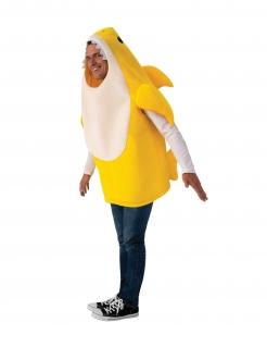 Baby Shark™-Kostüm für Erwachsene mit Sound Faschingskostüm gelb-weiss