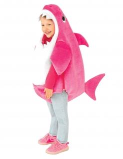 Offizielles Baby Shark™ Kinderkostüm Mommy pink-weiß