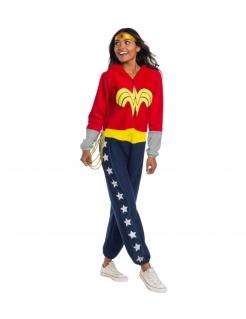 Wonder Woman™ Lizenzkostüm für Damen rot-gelb-blau