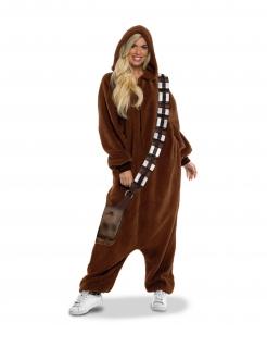 Chewbacca™-Kostüm für Erwachsene Star Wars™ Faschingskostüm braun