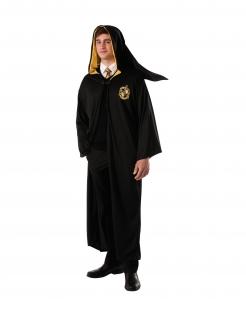Hufflepuff™-Kostümumhang Harry Potter™ Halloweenkostüm schwarz-gelb