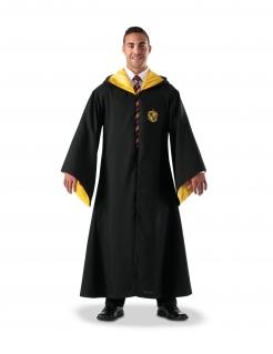 Hufflepuff™ Zauberer-Robe Harry Potter™ für Erwachsene schwarz-gelb