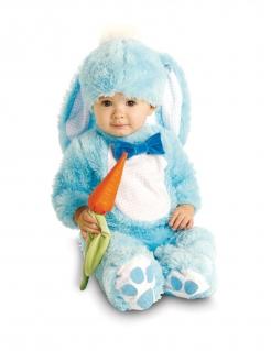 Niedlicher Hase Babykostüm blau-weiß-orangefarben