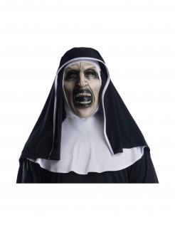 Horror-Nonne-Lizenzmaske The Nun™ für Erwachsene schwarz-weiß