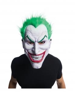 Joker™-Maske mit Perücke Hallowen weiss-grün