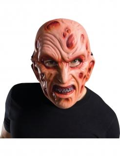 Freddy Krueger™ Lizenzmaske für Erwachsene beigefarben-rot