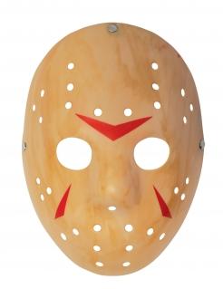 Jason-Lizenzmaske für Erwachsene Freitag der 13.™ hellbraun-rot