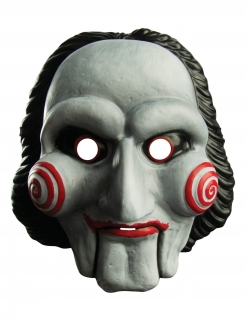 Saw™-Lizenzmaske für Erwachsene Halloween weiß-schwarz-rot