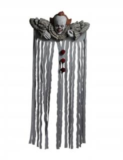Schockende Es™-Türdeko Lizenzartikel Halloween weiss-rot