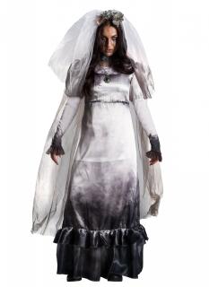 Geisterbraut-Damenkostüm Lloronas Fluch™ grau-weiss