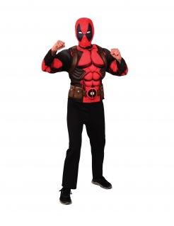 Deadpool™-Kostüm für Jugendliche Oberteil und Maske