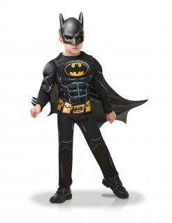 Batman™-Kostüm für Jungen mit Maske Deluxe Faschingskostüm schwarz-gelb