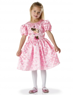 Süßes Minnie™-Lizenzkostüm für Mädchen rosafarben-weiss-schwarz