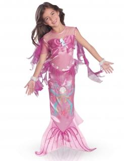 Schillerndes Meerjungfrau-Kostüm für Mädchen Faschingskostüm rosa