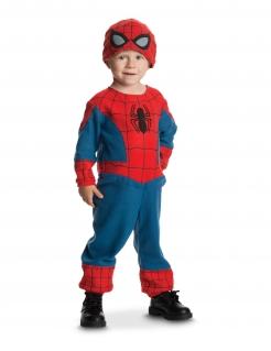 Spiderman™-Kostüm für Kleinkinder aus Fleece Faschingskostüm blau-rot