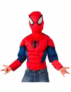 Spiderman™-Oberteil für Kinder mit Kapuze Faschingskostüm rot-blau