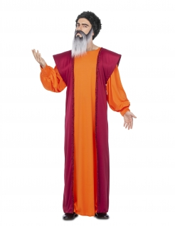 Guru-Kostüm für Herren Faschingskostüm orange-rot