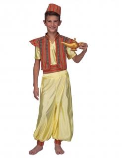 Orientalisches Kostüm für Jungen Prinz der Diebe Faschingskostüm gelb-rot