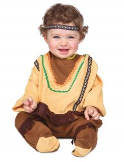 Indianer-Kostüm für Babys Faschingskostüm braun