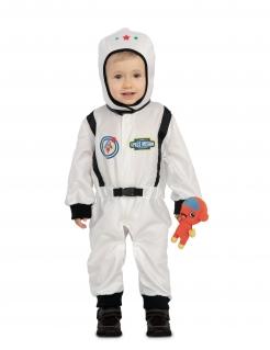 Astronauten-Kostüm für Kleinkinder mit Plüschtier Faschingskostüm weiss-schwarz