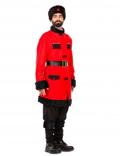 Russisches Soldaten-Kostüm für Herren Faschingskostüm rot-schwarz