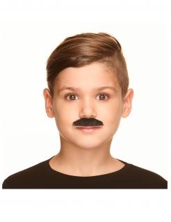 Schnauzbart für Kinder Schnurrbart Accessoire schwarz