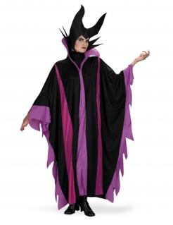 Dunkles Hexen-Kostüm für Damen Faschingskostüm violett-schwarz