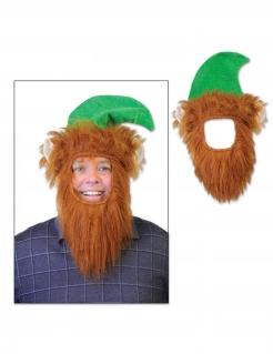 Leprechaun-Hut mit Bart St. Patrick