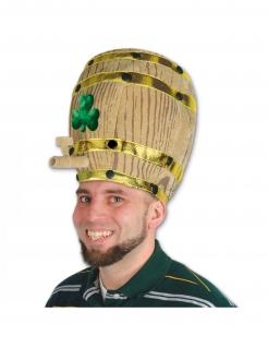 Bierfass-Hut mit Kleeblatt St. Patrick