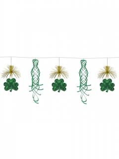 Kleeblatt-Girlande mit Hängedeko Partydeko grün 3 m