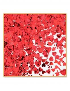 Herz-Konfetti Valentinstag-Deko rot-metallic 14 g