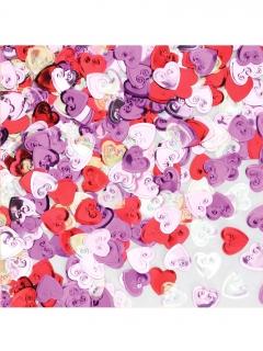 Herz-Konfetti Partydekoration rot-pink 14 g