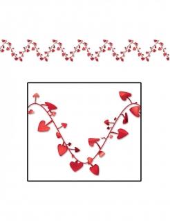 Herz-Girlande Valentinstag Dekoration rot 7 m
