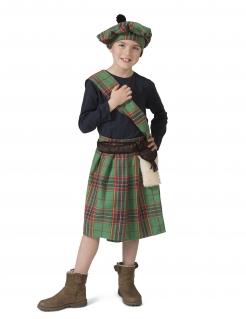 Schotten-Kostüm für Kinder Faschingskostüm grün-rot