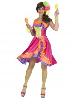 Rumba-Tänzerin-Kostüm bunt