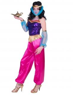 Orientalisches Tänzerin-Kostüm für Damen Faschingskostüm pink-violett