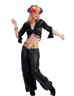 Orientalische Tänzerin Crop-Top schwarz