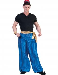 Orientalische Hose für Herren Tänzer-Hose blau-gold